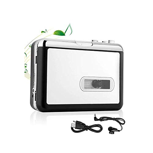 Cassette Player Tape to MP3 Converter via USB Retro Walkman Auto Reverse Portable Audio Music Tape Player with Earphone by KALULI