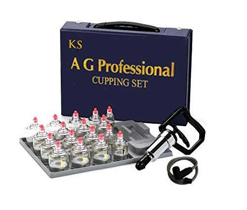 """Professional Cupping Set *Made in Korea* (17 Cups) with Extension Tube($3.00 Value) KS Choi Corp""""Made in Korea"""""""