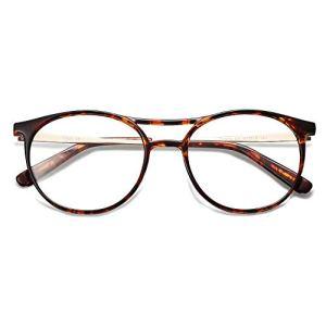 SOJOS Blue Light Blocking Glasses for Women Eyeglass Frames TR90 Double Bridge SJ5043