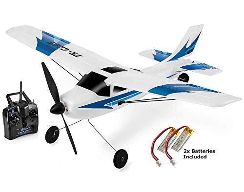 Top Race Aeroplano con telecomando a 3 canali, sistema giroscopico a 6 assi Super Easy To Fly RTF. TR-C285