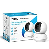 TP-LINK Tapo Pan/Tilt Smart Security Camera, Indoor CCTV, 360° Rotational View, Works with Alexa & Google Home, No Hub Required, 1080p, 2-Way Audio, Night Vision, SD Storage, Free Tapo App (Tapo C200)