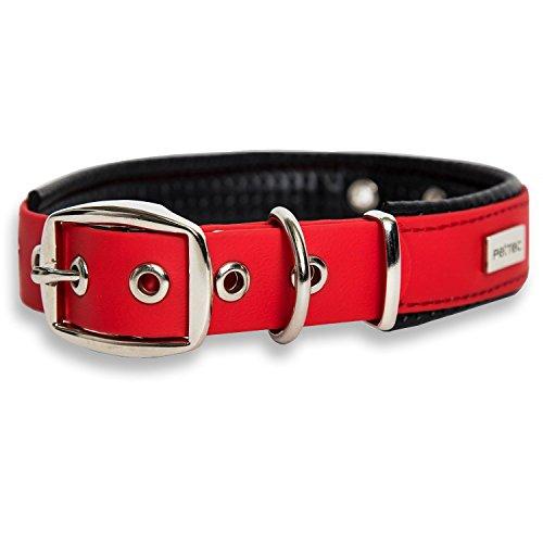 PetTec Collare per Cani Trioflex - per Cani di Taglia Piccola, Media e Grande, Cuccioli e Adulti - Resistente e Impermeabile - Tessuto Flessibile, Cuciture Rinforzate e Doppia Fibbia