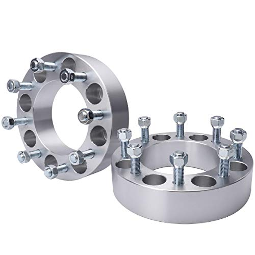 MAYASAF Wheel Spacers [2' THICK, 2 PACK, 8 Lugs] for Ford 1999-04 F-250/F-250 Super Duty/F-350/F-350 Super Duty, 2000-02 Excursion, 8x6.63 Bolt Pattern, 125mm Hub Bore, 14x2 Studs