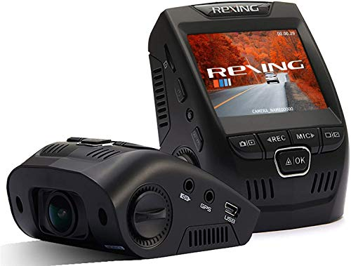 """Rexing V1 Basic Plus Dash Cam 1080P with Sony Exmor Video Sensor, 2.4"""" LCD Screen 170°Wide Angle, G-Sensor, WDR, Parking Monitor, Loop Recording with 32GB Memory Card and Hardwire kit"""