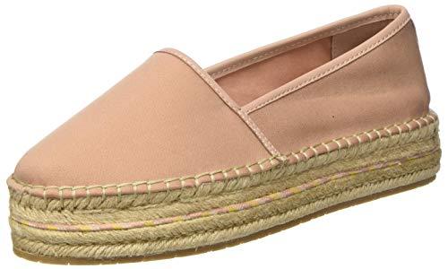 Tommy Hilfiger Sporty Basic Flatform Espadrille, Zapatos de Tacón para Mujer, Rosa (Sandbank TRK), 41 EU