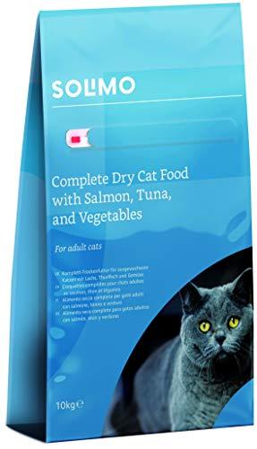 Amazon-Marke: Solimo - Komplett-Trockenfutter für erwachsene Katzen mit Lachs,...