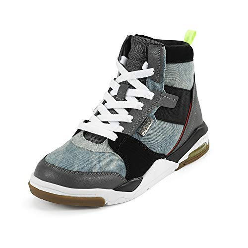 Zumba Air Classic Remix High Top Shoes Dance Fitness Workout Sneakers for Women, Denim, 6