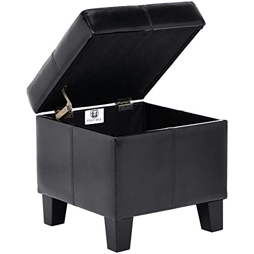 FIRST HILL FHW Living Storage Ottoman, Small, Black