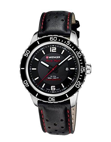 Wenger Unisex-Armbanduhr 01.0851.120 ROADSTER BLACK NIGHT Analog Quarz Leder 01.0851.120 ROADSTER BLACK NIGHT
