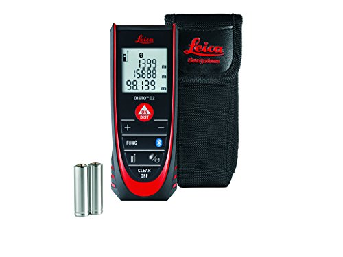 Leica Geosystems Disto D2 4.0 New Laser Distance Measurer with Bluetooth