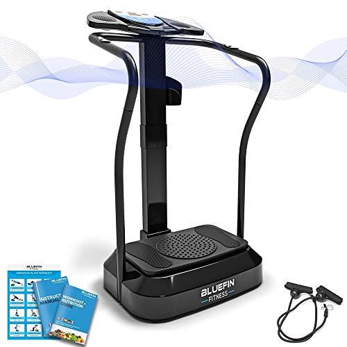 Bluefin Fitness Vibrationsplatte Pro Modell   Verbessertes Design mit Leisen Motoren und Eingebauten...