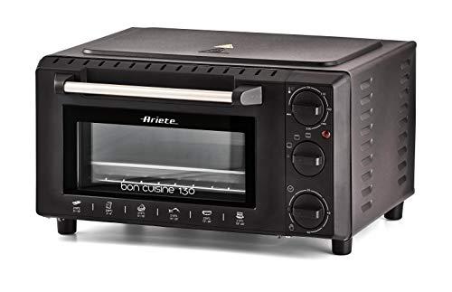 Ariete 912 Bon Cuisine 130 Forno Elettrico Compatto con 3 modalit, 1000 W, 13 Litri, Doppio Vetro,...