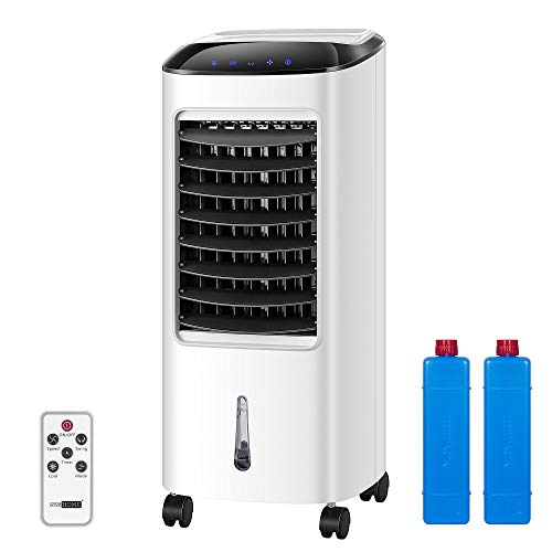 VIVOHOME Portable Evaporative Air Cooler 110V 65W Fan Humidifier with LED Display and Remote Control Ice Box for Home Office Indoor Outdoor ETL Listed