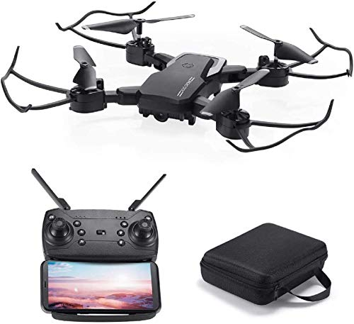 Powerextra Mini Drone con Videocamera per Bambini e Adulti - Giroscopio a 6 Assi Quadricottero RC con Telecomando WiFi HD Camera FPV 2.4GHz 3D Flip e Funzione Spin ad Alta velocit