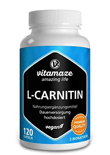 L-Carnitina de Alta Dosis y Vegana, 680 mg de L-Carnitina Pu
