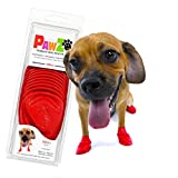 PawZ Rubber Dog Boots come in 7 sizes, to perfectly fit your dogs paw. Check our sizing chart or reach out to us if you have any questions about which size would work best for your pup! Our dog booties come in packs of 12 and are the perfect all weat...
