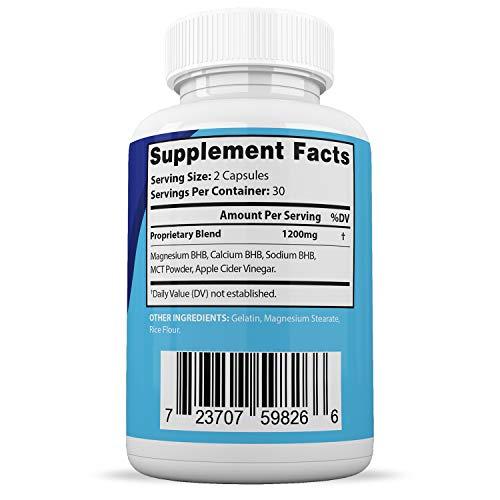 Instant Pure Keto Pills Max 1200MG Keto Pills Advanced BHB Ketogenic Supplement Exogenous Ketones Ketosis for Men Women 60 Capsules 1 Bottle 4