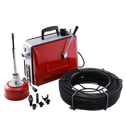 Z ZELUS 400W Rohrreinigungsmaschine Rohrreinigungsgerät Rohrreiniger 400 U/min Rohr-Reiniger Reinigung Werkzeug