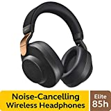 Jabra Elite 85h Wireless Noise-Canceling Headphones, Copper Black  Over Ear Bluetooth Headphones Compatible with iPhone & Android - Built-in Microphone, Long Battery Life - Rain & Water Resistant
