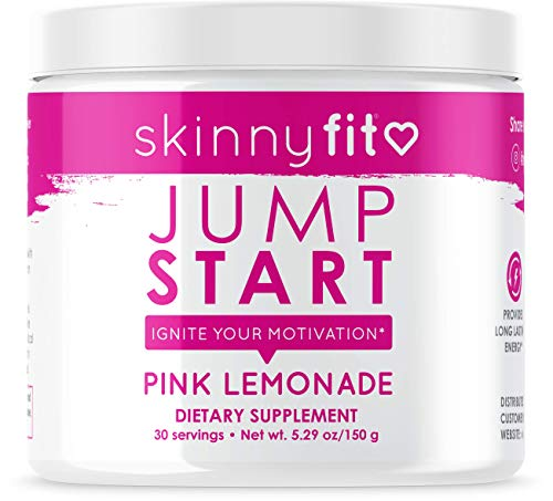 SkinnyFit Jump Start Pre Workout Supplement for Women 30 Servings - Creatine Free Powdered Mix Drink to Help Increase Energy, Focus, and Endurance, Pink Lemonade Flavor 1