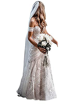 Fabric:Wedding dress made of high quality lace.Built in bra. Size:Please refer to the size chart on the left when you place the order.We provide custom made service, if you need, pls contact us feel free. Occasion:Bohemian beach,garden,park,church,vi...