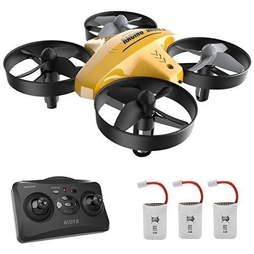 Mini Drone per Bambini,Quadricottero RC con Telecomando,Funzione di Sospensione Altitudine,Decollo/Atterraggio a Un Tasto,velocit Regolabile,Protezioni a 360,Adatto a bambini e principianti