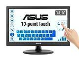 ASUS VT168N- Monitor táctil 15,6' (39.6 cm, 1366x768), multitáctil 10 puntos, antiparpadeo, luz azul reducida