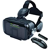 VR Headset for Android Phone / iPhone with Controller, 120° FOV, 3.5mm Audio Wireless Adaptor, Anti-Blue-Light Lenses, Fits for All Mobile's Length / Display Size Up to 6.7 / 7.2 inches. (BBR)