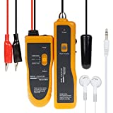 UCONTRO Underground Wire Locator Cable Tracker with Earphone for Invisible Fence, Pet Safe System, Metal Pipes, Electrical Wires, Telephone Wire, Coax Cable (Yellow)
