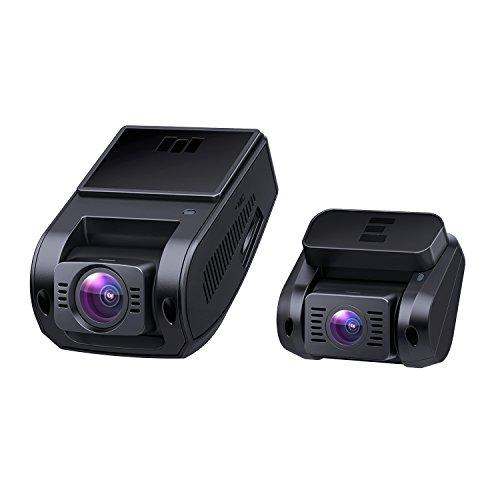 AUKEY Dashcam Dual 1080P Front und Rück Autokamera mit 170 Grad Weitwinkel, Superkondensator, WDR Nachtsicht Dash Cam mit G-Sensor, Bewegungserkennung, Loop-Aufnahme und Dual-Port Kfz-Ladegerä