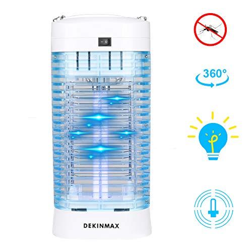 DEKINMAX Lampe Anti-Moustique Électronique 12W Piège à Moustique Tueur...