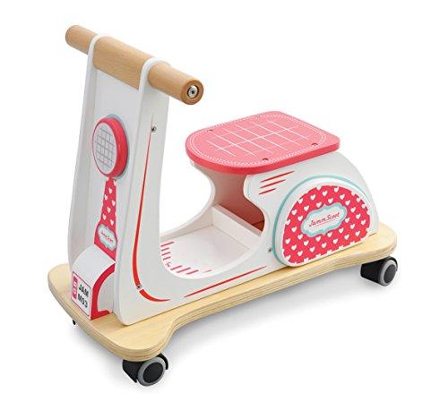 Indigo Jamm, Jamm Scoot: Sitzroller aus Holz in klassischem Retrodesign für Kinder ab 12 Monaten – Herzen