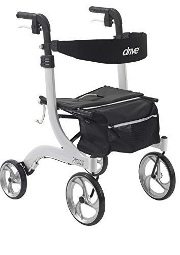 Drive Medical Nitro Euro Style Rollator Walker, Standard Height, White