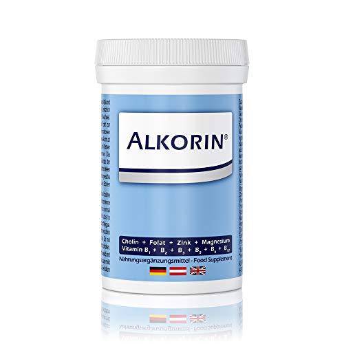ALKORIN® 100g Dose für 25 Anwendungen. Dem nächsten Tag zuliebe! Unterstützt die Leberfunktion mit Cholin. Basenpulver mit Magnesium, Zink, Folsäure, Vitamin B1 + B2 + B3 + B5 + B6 + B12