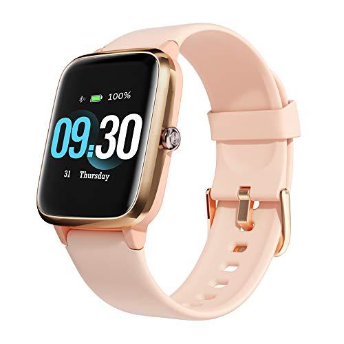 Orologio Fitness Donna, Smartwatch Donna Impermeabil IP68 con Cardiofrequenzimetro del Sonno Cronometro Contapassi Notifiche Messaggi Salute delle Donne Controller Musicale per Android iOS