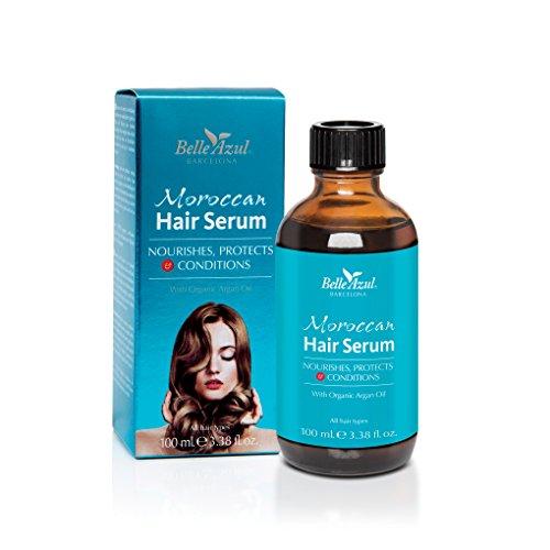 Belle Azul - Sérum Capilar con Aceite de Argán Orgánico natural, Protege, Nutre y Acondiciona...