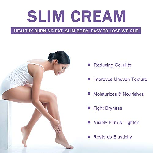 Hot Cream Cellulite Treatment, Belly Fat Burner for Women & Women,Anti-Cellulite Workout Sweat Cream for Waist,Abdomen,Thight and Buttocks,Weight Loss Firming Cream,2 Fl Oz 2