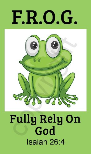 Fully Rely on God Frog F.R.O.G. Christian Pocket Prayer...