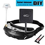 Flysight SpX02 SpeXman FPV Goggles Headset 5.8Ghz 40Channel Video Glasses with Double Antenna Built-in Dual 5.8G Wireless Diversity Receiver for Racing Drone Quadcopter