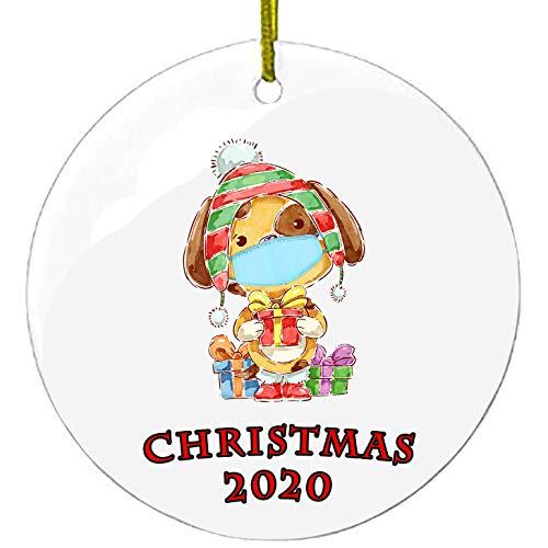 2020 クリスマス 飾り 70mm 可愛い 犬ちゃん クリスマス オーナメント デコレーション おしゃれ ガラス ド...