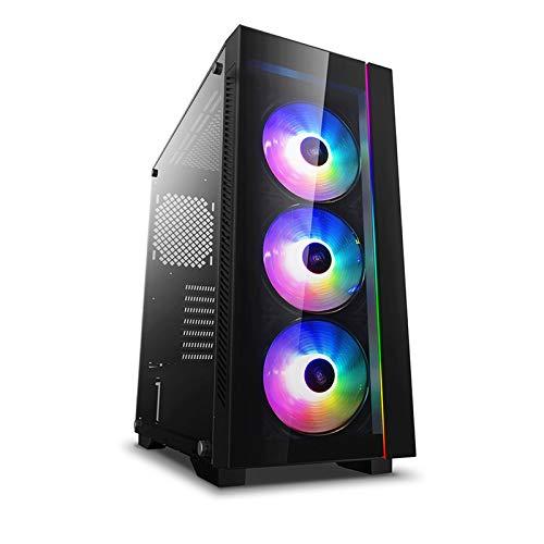 DEEP COOL MATREXX 55 V3 Add-RGB 3F, Caja de PC, Ordenador Sobremesa Soporta Placa Base de E-ATX,Preinstalada 3 ARGB PWM Ventiladores