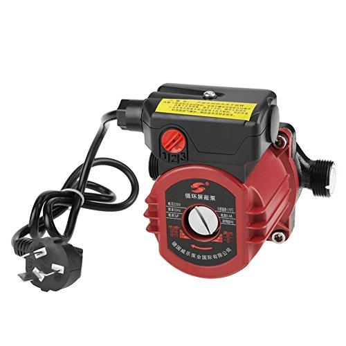 220V Pompe de Circulation de Chauffage Pompe à Eau de Circulation de Rendement Élevé pour Réchauffeur Solaire 100W 6 Points Calibre G3/4''