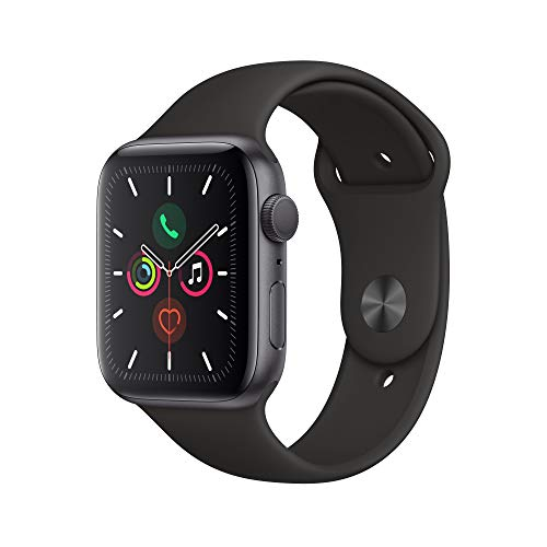Apple Watch Series 5 (GPS, 44 mm) Aluminiumgehäuse Space Grau - Sportarmband...