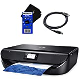HeroFiber HP All-in-One Wireless Bluetooth Photo Printer Envy 5055 with Scanner Copier, Mobile/Document Printing + Ink Cartridges + Xtech USB Cable & HeroFiber Cloth Compatible with HP Printer