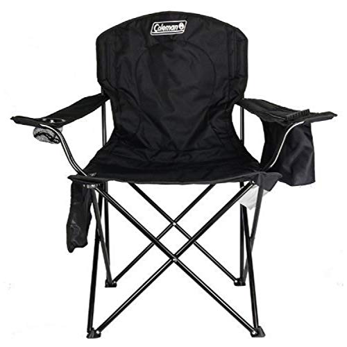 Coleman Camp Chair with 4-Can Cooler | Folding Beach Chair with...