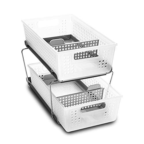 madesmart 2-Tier Organizer Bath Collection Slide-out Baskets with...