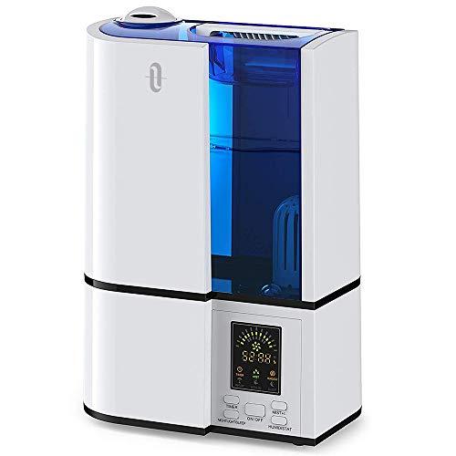 Umidificatore Ambiente Ultrasuoni TaoTronics, Purificatore d'Aria, Grande Capacità 4L, Display LED,...