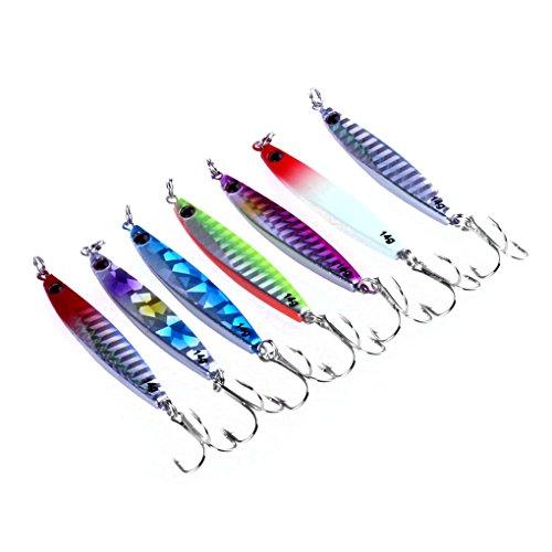 Republe Pesce Simulazione piombo esche piastra metallica Riflessione pesce esca verniciatura a spruzzo Pesca alimentari Amo Jig Tackle Kit
