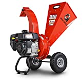 GreatCircleUSA Mini Wood Chipper Shredder Mulcher Kohler 6.5 HP 196cc Gas Powered 3' Inch Max Wood Capacity EPA/CARB Certified Aids in Fire Prevention/Building Firebreaks