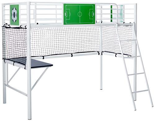 Powell Goal Keeper Loft Bed, Twin, White